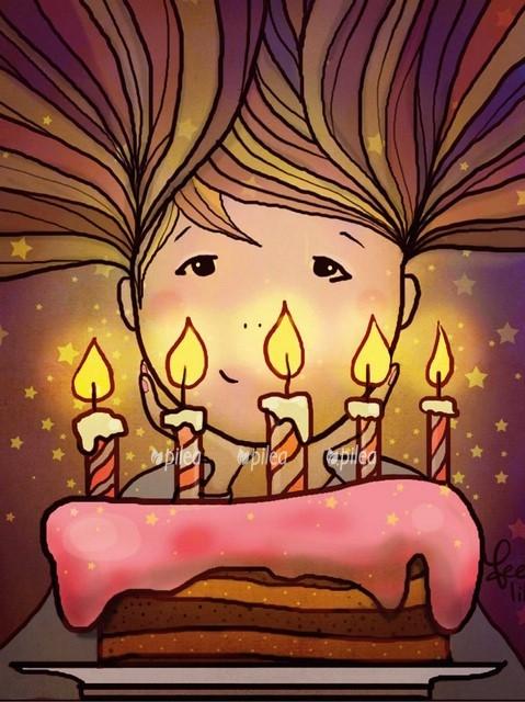 Открытка «Задувать свечи»