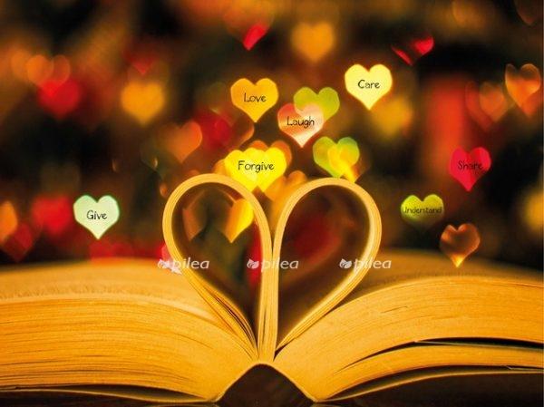 Открытка «Книга Сердце»
