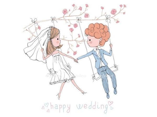 Открытка «Счастливая свадьба»