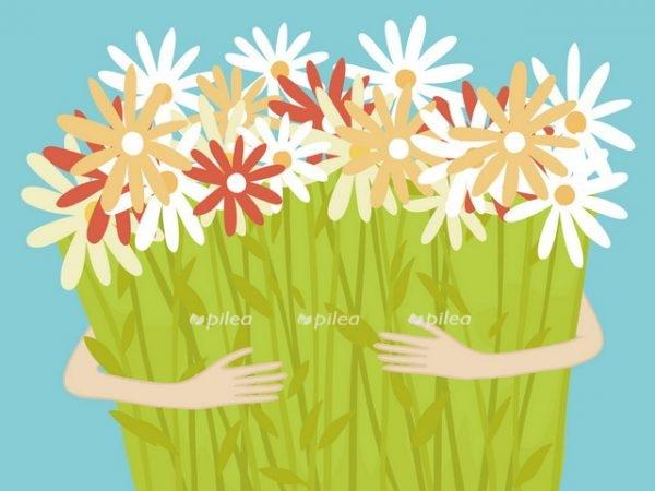 Открытка «Охапка цветов»