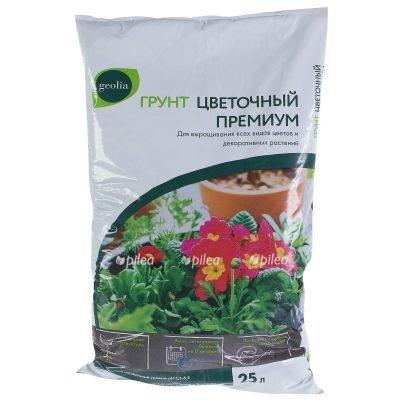 Купить Грунт цветочный премиум geolia
