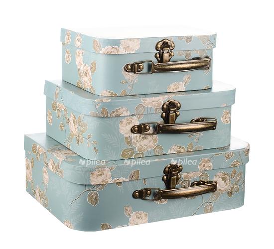 Коробка набор «Чемоданчик» бирюзовый
