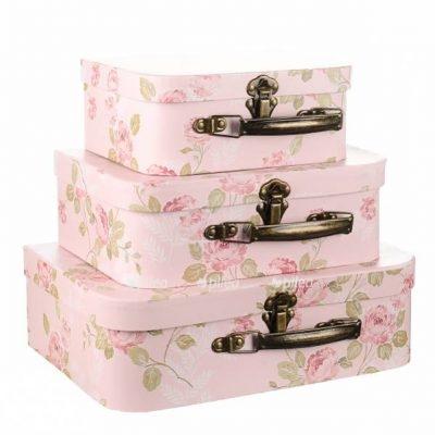 Коробка набор «Чемоданчик» розовый