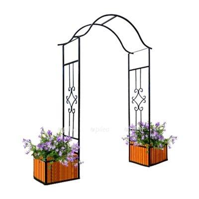 КУпить Арка Садовая 220 × 202× 48 см с ящиком для растений