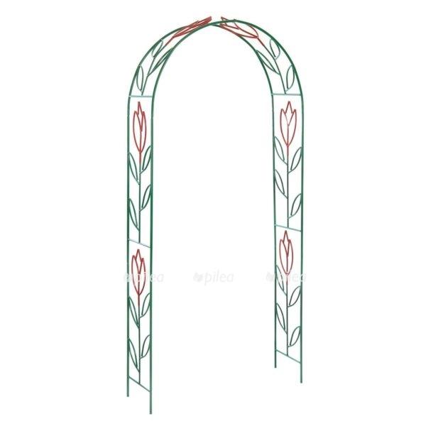 """Купить Арка Садовая """"Тюльпан"""" зелёная 230 × 125 × 36,5 см"""